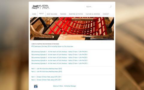 Screenshot of Press Page meithealmara.ie - Listen to maritime documentaries & interviews - Meitheal Mara - captured Oct. 27, 2014