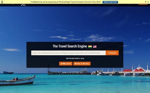 Screenshot of Home Page findmycarrots.com - FindMyCarrots - captured Sept. 25, 2014