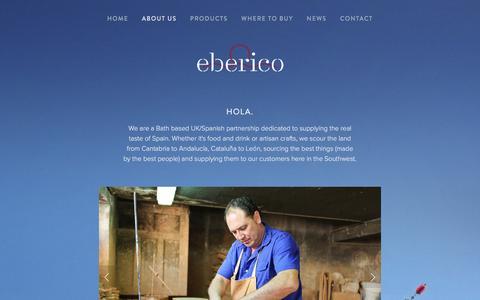 Screenshot of About Page eberico.es - About Us Ń Eberico - captured Dec. 7, 2015