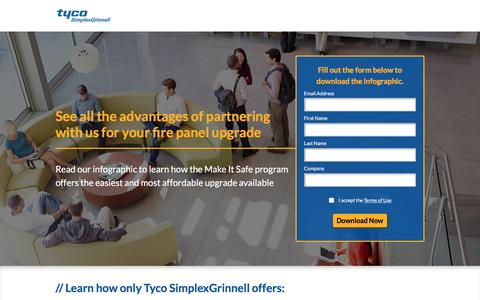 Screenshot of Landing Page tycosimplexgrinnell.com - Tyco SimplexGrinnell - captured Feb. 10, 2017