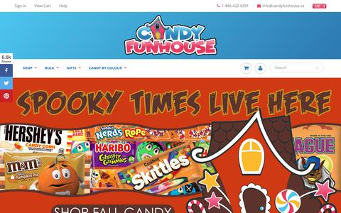 Screenshot of Home Page candyfunhouse.ca - Online Candy Store | Bulk Candy Canada | Canadian Candy - captured Oct. 22, 2018