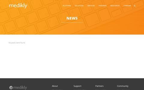 Screenshot of Press Page medikly.com - News | Medikly - captured Sept. 11, 2014