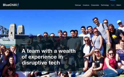 Screenshot of Team Page bluechilli.com - Team - BlueChilli - BlueChilli - captured July 16, 2017