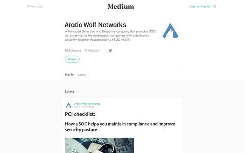 Arctic Wolf Networks – Medium