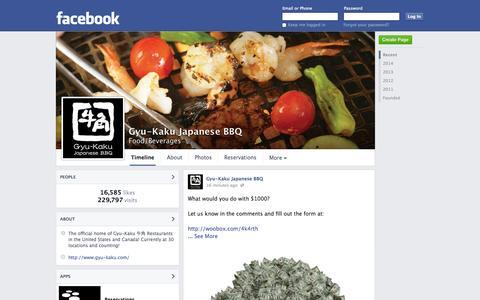 Screenshot of Facebook Page facebook.com - Gyu-Kaku Japanese BBQ   Facebook - captured Oct. 23, 2014