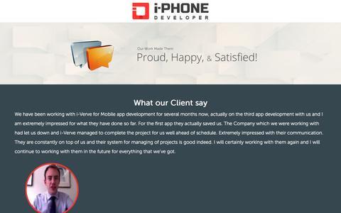 Screenshot of Testimonials Page i-phonedeveloper.com - Testimonial - - captured Oct. 19, 2016