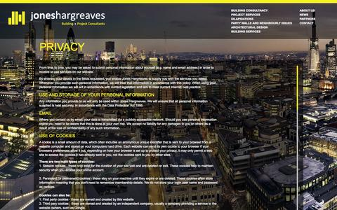 Screenshot of Privacy Page joneshargreaves.co.uk - Privacy - captured Sept. 30, 2014