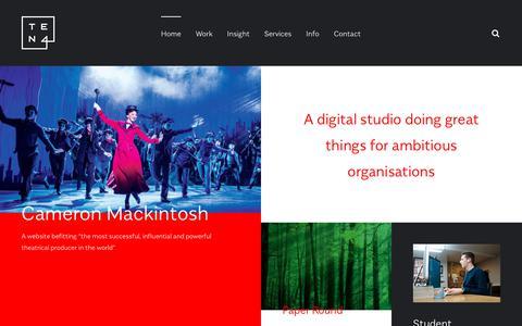 Screenshot of Home Page ten4design.co.uk - Ten4 | Web design and development in Shoreditch, London - captured June 13, 2017
