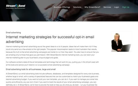 Email Advertising - StreamSend