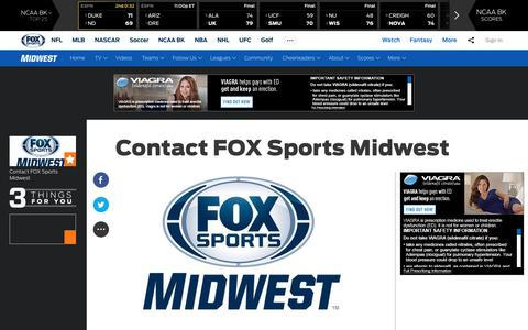 Screenshot of Contact Page foxsports.com - Contact FOX Sports Midwest | FOX Sports - captured March 12, 2017