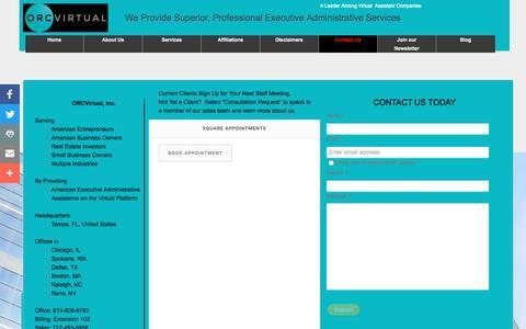 Screenshot of Contact Page orcvirtual.com - ORCVirtual - virtual assistant companies, virtual assistant services, real estate virtual assistant - captured Dec. 21, 2016