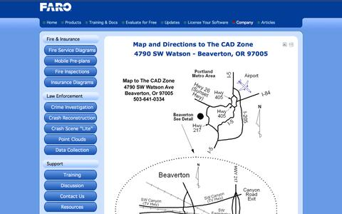 Screenshot of Maps & Directions Page cadzone.com - Directions - captured Sept. 23, 2014