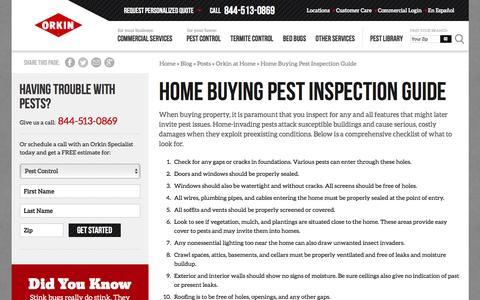 Screenshot of Blog orkin.com - Home Buying Pest Inspection Guide - captured Sept. 30, 2016