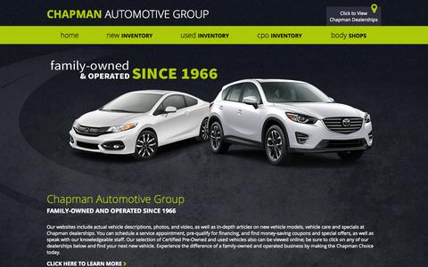 Screenshot of Home Page chapmanchoice.com - Chapman Automotive Group | New & Used Car Dealers in Arizona & Nevada - captured June 19, 2015