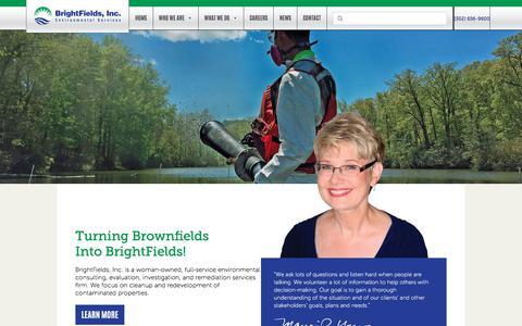 Screenshot of Home Page brightfieldsinc.com - Home   BrightFields, Inc. - captured April 23, 2018