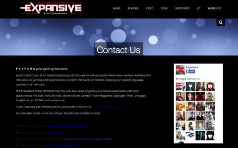 Screenshot of Contact Page expansivedlc.com - Contact Us - Expansive - captured Sept. 19, 2014