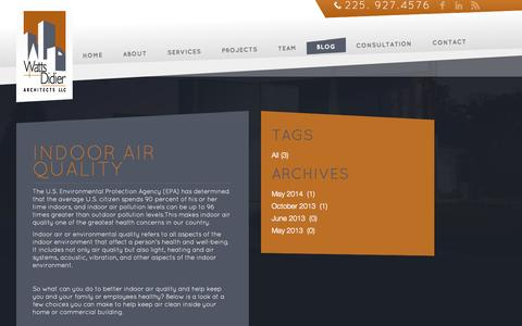 Screenshot of Blog wattsdidier.com - Blog              - Blog - captured Oct. 9, 2014