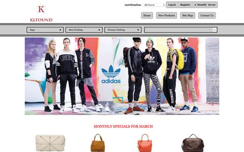 Screenshot of Home Page klfound.org - 80% off - T-shirt, Jacket, Jean, Handbags, Wallets, etc., discount sales - captured March 17, 2016