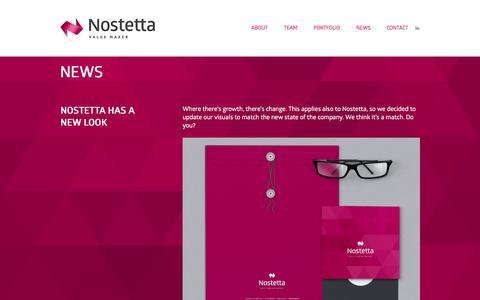 Screenshot of Blog nostetta.com - News | Nostetta - captured Oct. 9, 2014