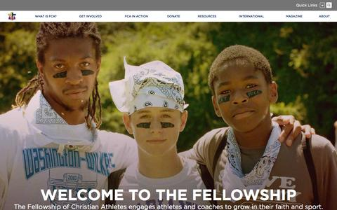 Screenshot of Home Page fca.org - Fellowship of Christian Athletes - captured Nov. 16, 2015