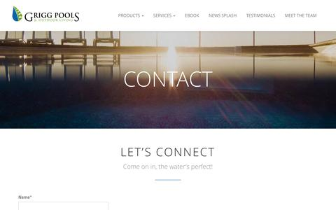 Screenshot of Contact Page griggpools.com - Contact | Grigg Pools and Outdoor Living - captured Nov. 2, 2014