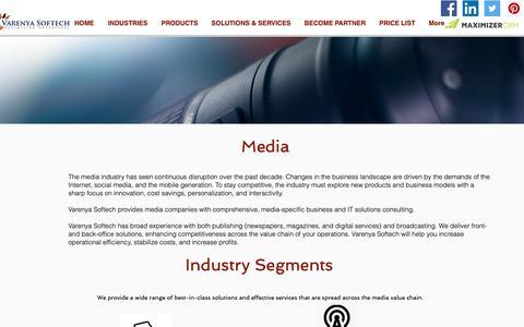 Screenshot of Press Page varenyasoftech.com - vsoftech   Media - captured Oct. 20, 2018