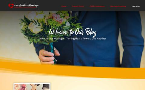 Screenshot of Blog oneanothermarriage.org - Blog | One Another Marriage - captured Dec. 10, 2018
