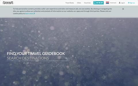Screenshot of Signup Page Login Page favoroute.com - Favoroute | Find your travel guidebook - captured Nov. 25, 2016