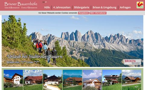 Screenshot of Home Page Privacy Page suedtirol-bauernhof.it - Brixner Bauernhöfe - Urlaub am Bauernhof, Südtirol, Brixen - captured Oct. 28, 2018