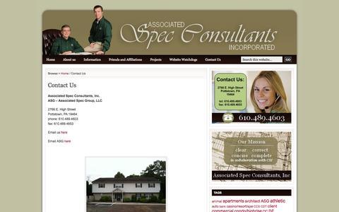 Screenshot of Contact Page spec-consultants.com - Contact Us | Spec Consultant - captured Oct. 1, 2014