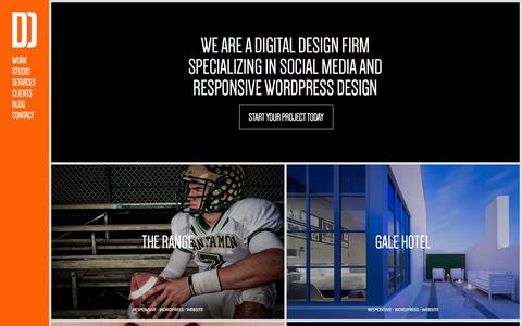 Screenshot of Home Page daddydesign.com - Daddy Design - Responsive Wordpress & Social Media Design Firm - captured Sept. 23, 2014