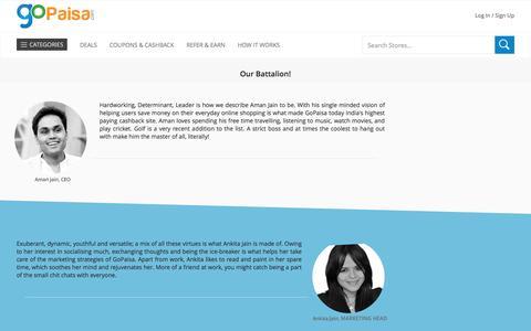 Screenshot of Team Page gopaisa.com - GoPaisa.com Team - captured Sept. 7, 2016