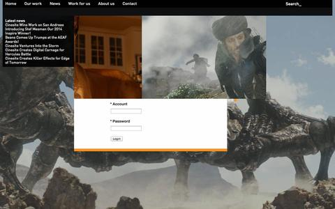 Screenshot of Login Page cinesite.com - Cinesite : Client Access - captured Sept. 23, 2014