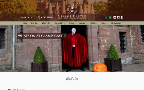 Screenshot of Press Page glamis-castle.co.uk - Whats On at Glamis Castle | Historic Scottish Castle in Scotland - captured Aug. 5, 2017
