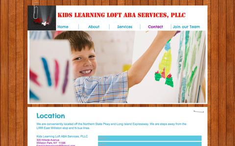 Screenshot of Contact Page kidslearningloft.com - kidslearningloft | Contact - captured Sept. 20, 2018