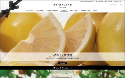 Screenshot of jomalone.co.uk - Citrus | Jo Malone London - captured March 31, 2017