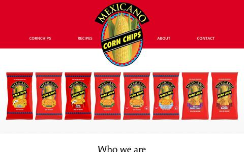 Screenshot of Home Page mexicano.co.nz - Mexicano | NZ grown corn chips | New Zealand - captured June 30, 2018