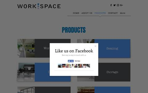 Screenshot of Products Page workspaceok.com - Workspace Resource, Inc. - Our Products - captured Oct. 27, 2017