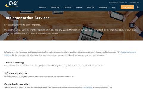QMS Implementation Services by EtQ