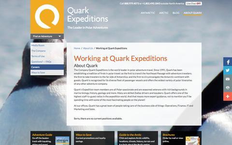 Screenshot of Jobs Page quarkexpeditions.com - Working at Quark Expeditions | Quark Expeditions - captured Sept. 19, 2014