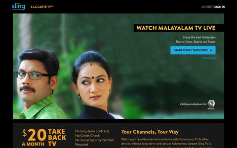 Sling TV - Watch Live Malayalam Channels on the #1 Live International TV provider in the US
