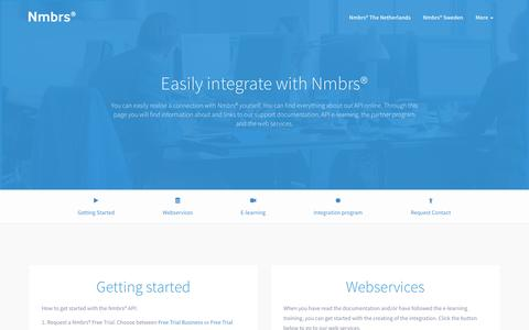 Screenshot of Developers Page nmbrs.com - Nmbrs® | Cloud HR and Payroll software - captured March 3, 2016