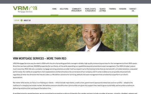 Screenshot of About Page vrmco.com - About Vendor Resource Management | VRM - captured Oct. 30, 2014