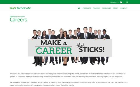 Screenshot of Jobs Page technicote.com - Careers | Technicote - captured Nov. 17, 2018
