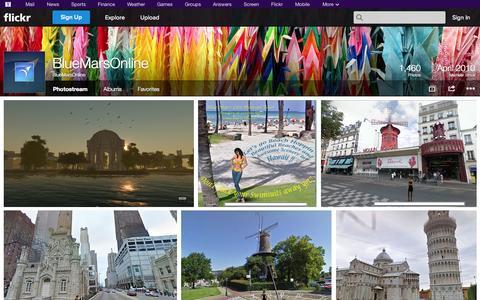 Screenshot of Flickr Page flickr.com - Flickr: BlueMarsOnline's Photostream - captured Oct. 22, 2014