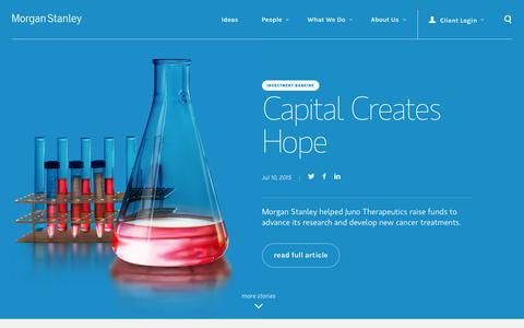 Screenshot of Home Page morganstanley.com - Morgan Stanley | Wealth Management, Investment and Financial Services - captured July 16, 2015