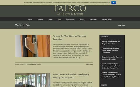 Screenshot of Blog fairco.ie - Fairo Windows & Doors, Dublin | Latest News Blog - captured Oct. 27, 2014