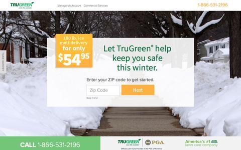 Screenshot of Landing Page trugreen.com - TruGreen. Live Life outside. - captured Jan. 28, 2017