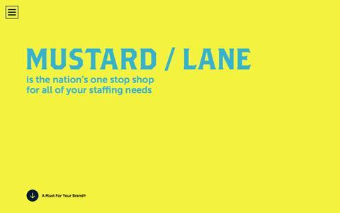 Screenshot of Blog mustardlane.com - Blog - Mustard Lane - captured Dec. 8, 2016