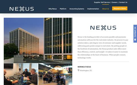 Screenshot of Jobs Page nexussystems.com - Careers at Nexus | Accounts Payable Automation Software - captured March 14, 2019
